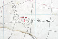 Extrait du plan cadastral de 1842, section C.